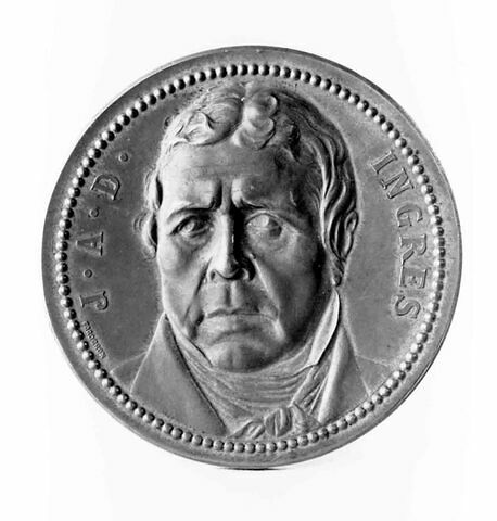 Médaille : Ingres, cliché de droit