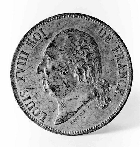 Monnaie : Louis XVIII, cliché de droit