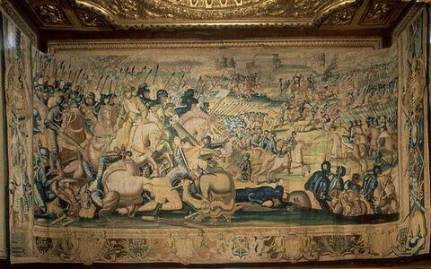 La Bataille de Jarnac, de la tenture L'Histoire d'Henri III