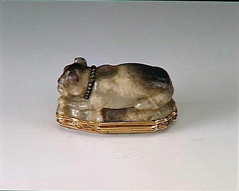 Bonbonnière. Améthyste et or. Allemagne (?), XVIIIème et XIXème siècle.