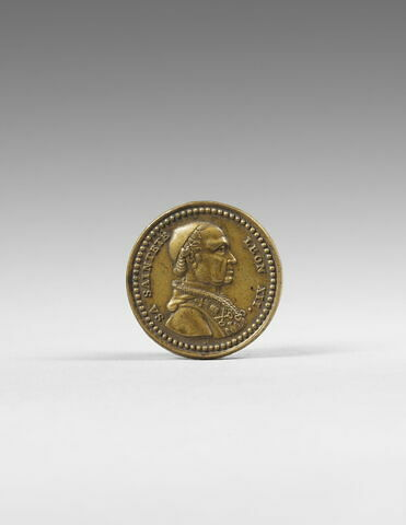 Médaille : Léon XII pape / emblème pontificaux