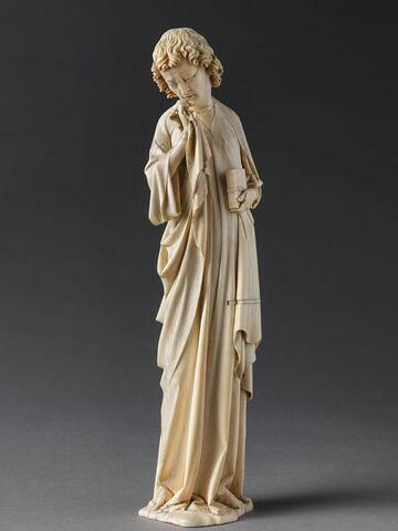 Statuette provenant du groupe représentant la Descente de Croix : saint Jean