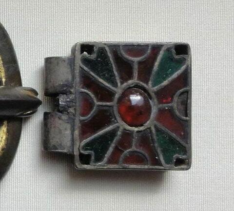 Plaque-boucle de ceinture (élément carré) wisigothique de Tressan (Hérault)