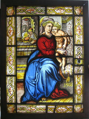 Vitrail : Vierge à l'Enfant