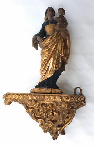 Statuette sur console : la Vierge debout portant l'Enfant