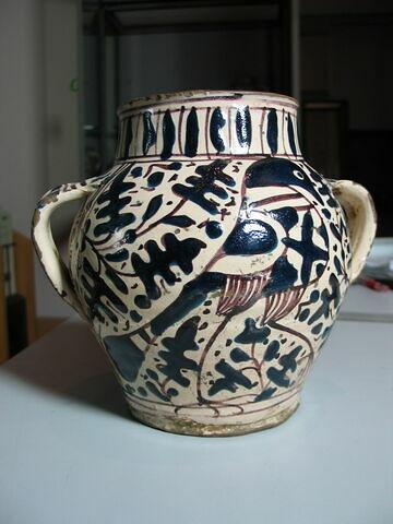 Pot ovoïde à deux petites anses plates : emblème de l'hôpital Santa Maria Nuova de Florence