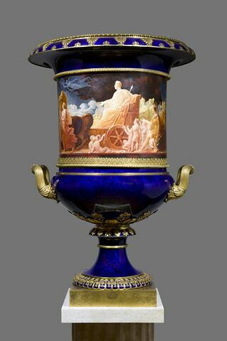 Grand vase Médicis : entrée du roi Charles X à Paris après son sacre - d'une paire avec MR XIV 624