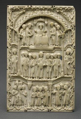 Plaque de reliure : Scènes liturgiques