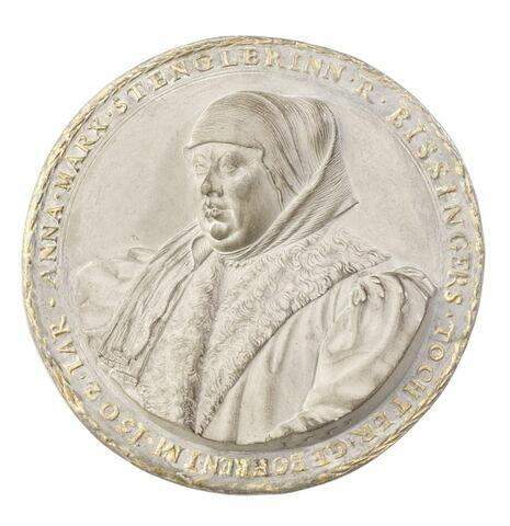 Médaillon : Anna, femme de Marx Stengle d'Augsbourg, née en 1502