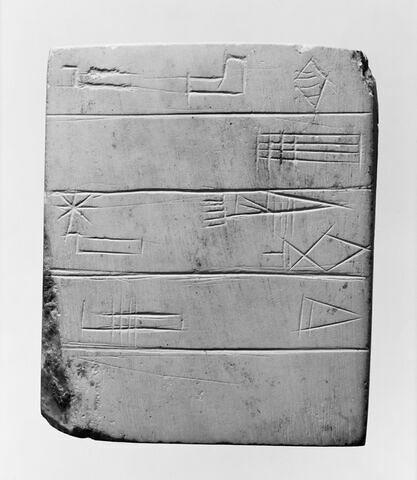 tablette ; dépôt de fondation