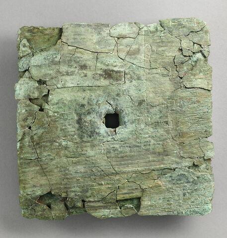 plaque ; dépôt de fondation