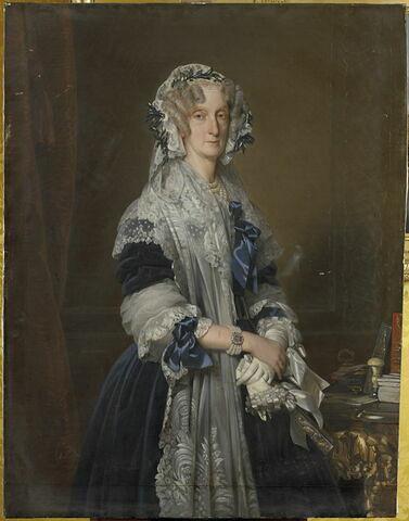 Portrait en grand buste de Marie-Amélie
