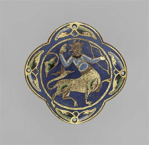 Médaillon quadrilobé : un centaure tirant à l'arc