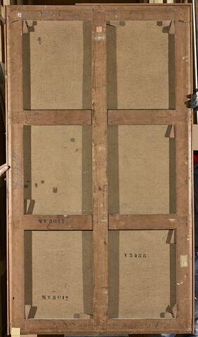 dos, verso, revers, arrière ; vue d'ensemble ; vue sans cadre © 2016 Musée du Louvre / Christophe Fouin