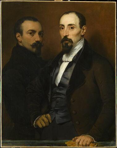 Portrait de l'artiste et de son frère Achille