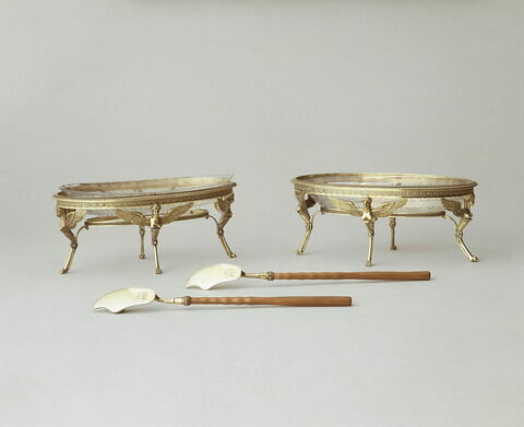 Beurrier d'une paire du service à thé de Napoléon Ier et de Marie-Louise