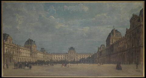 L'Impératrice Eugénie sortant du Louvre