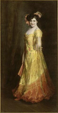 Portrait de Jeanne Gerville-Réache, cantatrice française (1882-1915)
