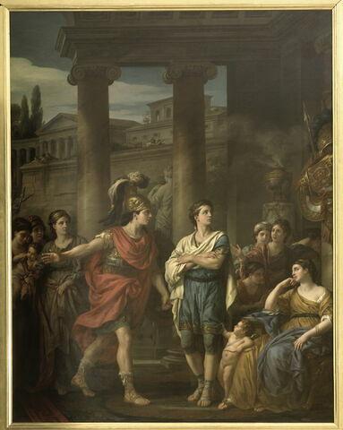 Les reproches d'Hector à Pâris ou Hector déterminant Pâris à prendre les armes pour la défense de la patrie