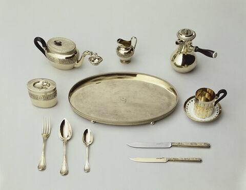 Cafetière à manche d'ébène du nécessaire de Napoléon Ier puis du tsar Alexandre Ier