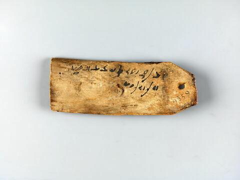 étiquette de momie triangluaire