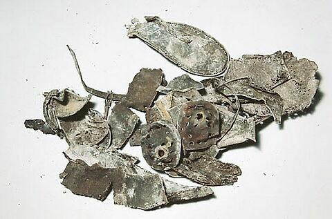 chaussure, fragment ; semelle de chaussure, fragment ; talon de chaussure, fragment