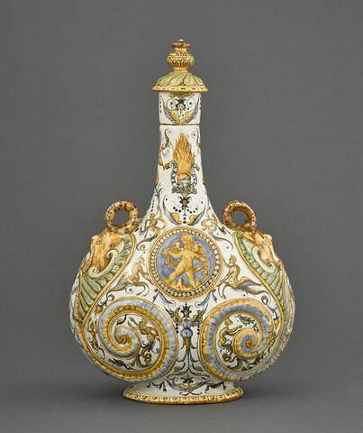 Gourde à deux passants : emblème d'Alphonse II d' Este, duc de Ferrare