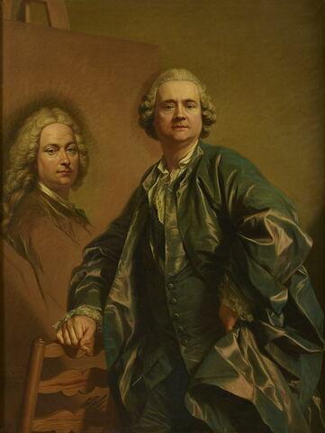 Louis Michel Van Loo peignant le portrait de son père Jean Baptiste