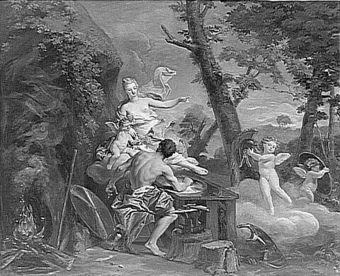 Vénus ordonne à Vulcain de faire des armes pour Enée