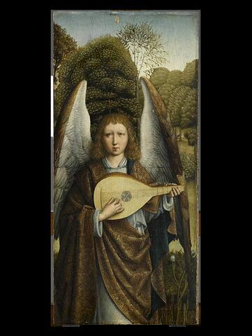 Ange musicien jouant du luth