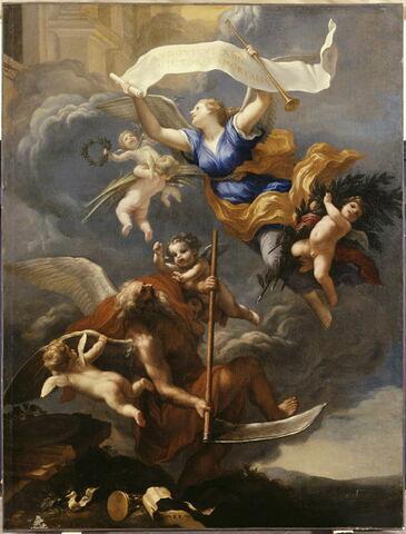 La gloire de Louis XIV triomphe du temps