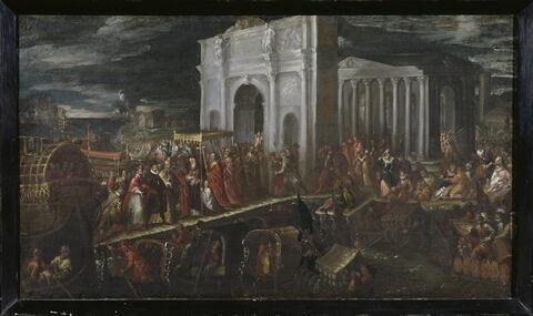 Réception du duc d'Anjou par le Patriarche de Venise a San Nicola di Lido, 18 juillet 1564.