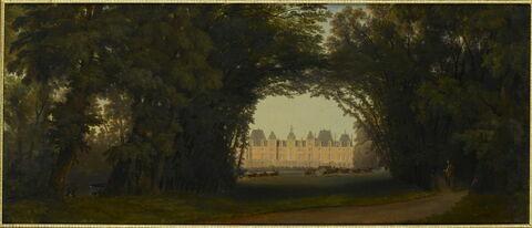Retour de la promenade en char à bancs de la reine Victoria : l'arrivée au château d'Eu, 4 septembre 1843