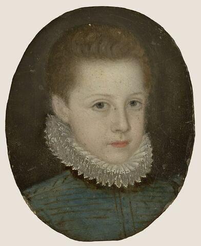 Portrait d'un enfant en costume de l'époque de Charles IX