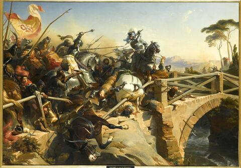 Bayard défend un pont sur le Garigliano, 1505
