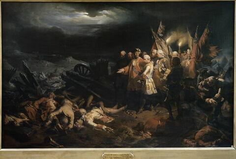 Louis XV sur le champ de la bataille de Fontenoy, 11 mai 1745