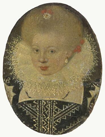 Portrait de Catherine de Bourbon, duchesse de Bar (1558-1694), soeur de Henri IV.