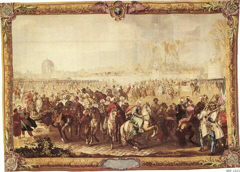 L'ambassadeur turc Mehemet Effendi quitte le jardin des Tuileries, 21 mars 1721