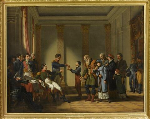 Napoléon remet une pension de cent napoléons au Polonais Nerecki âgé de 117 ans, janvier 1807