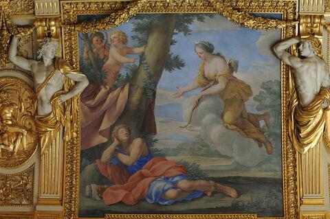 Plafond : Salle des Saisons -Diane et Endymion, au dessus de la corniche, côté est
