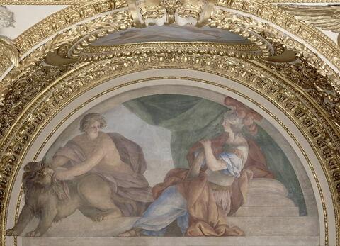 Plafond : Salle des Antonins - La Tempérance et la Paix, au dessus de la corniche, côté est, au nord