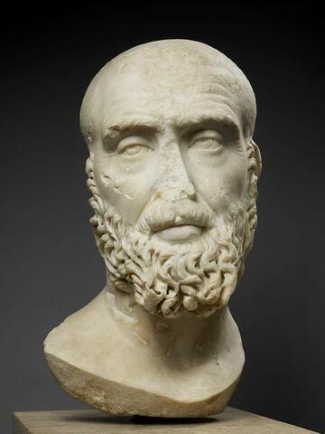 statue  ; Portrait de l'empereur Pupien