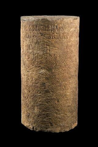 inscription ; tambour de colonne