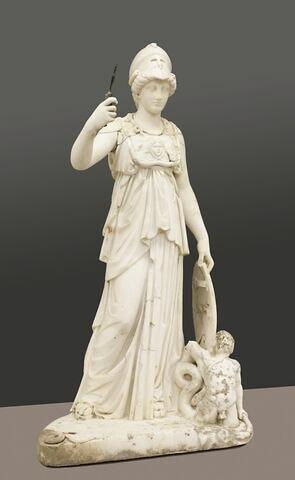 statuette ; Minerve Crawford