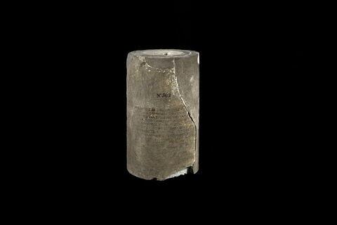 tambour de colonne ; inscription