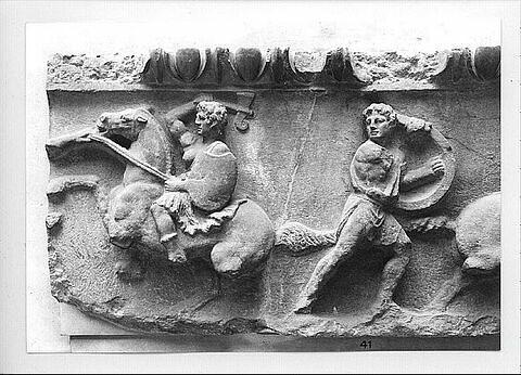 plaque de frise ; Frise de Magnésie du Méandre