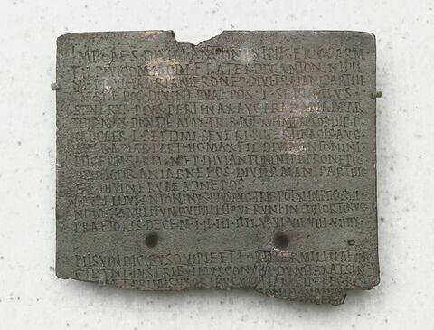 inscription ; feuillet de diptyque