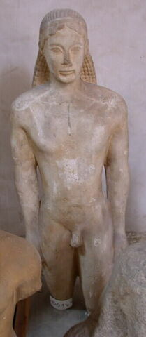 moulage ; statue ; Kouros de Ptoon (Béotie)