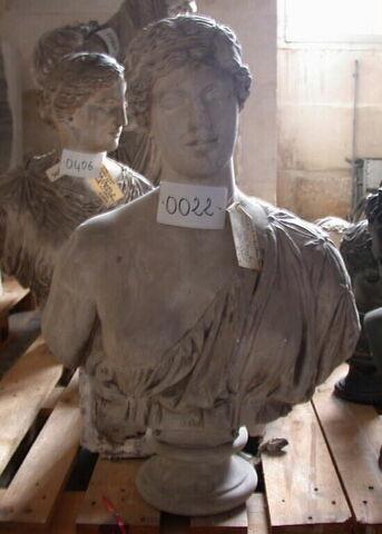 """moulage ; statue en buste ; """"Sappho d'Oxford"""" ou """"buste d'Oxford"""" ou """"Amazone"""" ou """"Phryné"""" ou """"Aphrodite"""""""