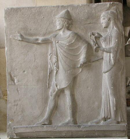 """moulage ; relief architectural ; Reliefs dit """"du passage des Théores"""""""